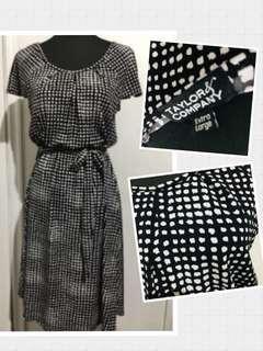 Taylor & Company black&white Xl dress