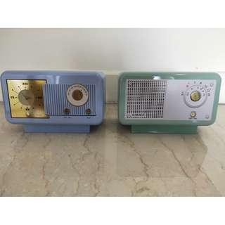 Retro Clock Radio Shape Biscuit Tins From England