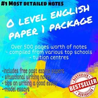A1 English paper 1 package