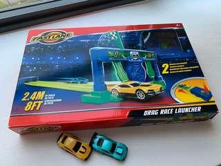 🚚 Preloved Fast Lane Drag Race Launcher / Race Track