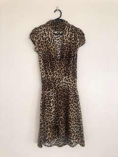 Princess Highway Acrylic Leopard Print Dress 8