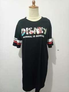 Disney Dress Hitam Import