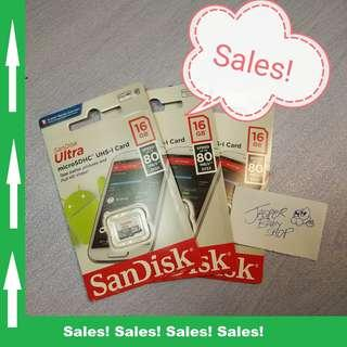 🚚 SanDisk Ultra Micro SD Card 16GB, Class10 UHS-I (Original)