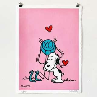 【Andre Saraiva】Mr. A loves Snoopy Limited Print (Pink) 史努比
