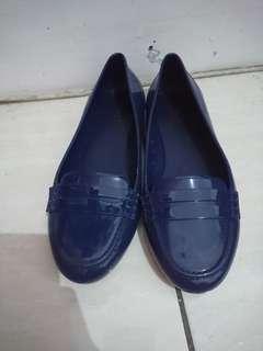 TLTSN Navy Jelly Flatshoes