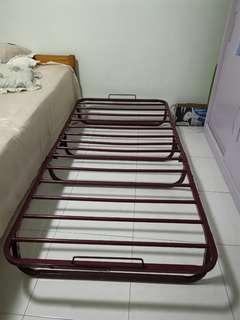 Single Bed Frame Foldable Metal