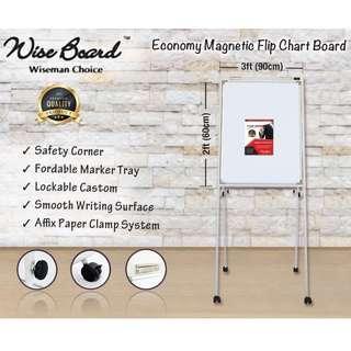 Economy Magnetic Flip Chart Board