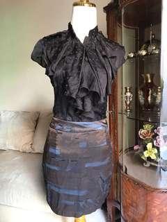 Ruffle shirt & skirt