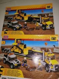 Megablocks caterpillar con set