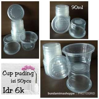 Cup Puding 90ml dengan tutup