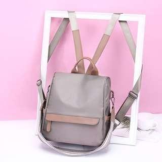Nylon backpack.