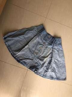 Zara TRF denim skirt