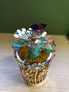 蝴蝶造型旋轉蠟燭座 candle holder