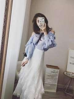 🚚 Korean Fasion Skirt & Shirt