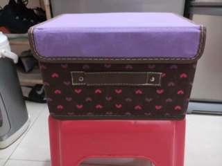 清貨 減價 紫色心心 收納箱 整理箱 整齊