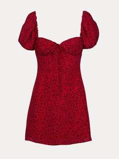 🚚 Reformation inspired red squiggly dress