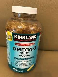 Kirkland omega -3 魚油丸 Canada 300softgels