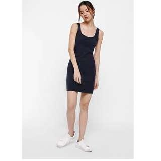 🌟BNWT Love Bonito Meredith Ribbed Knit Tank Dress in Navy Blue