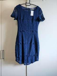🚚 BNWT Hollyhoque Navy Blue Dress