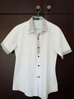 Men's White Short Sleeves Shirt