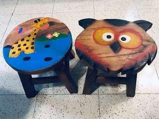 Handmade Wooden Baby Stood Chair w/ indoor outdoor