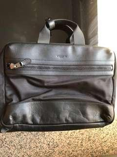 Coach men leather briefcase cum backpack