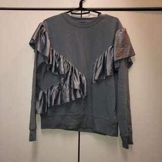 Topshop Ruffled Sweater/Top