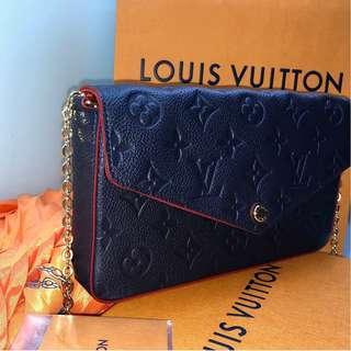 100% Authentic Louis Vuitton Pochette Félicie Crossbody (New)