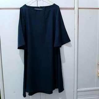 Sleeves Black Dress
