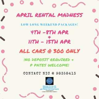 😤APRIL RENTAL MADESS IS HERE!😭