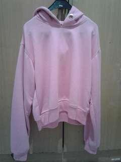 Hoodie Crop pink