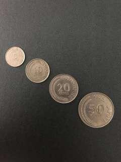 SINGAPORE Old Coins SET