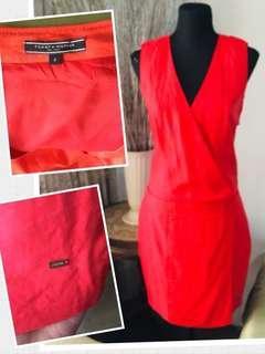 Tommy Hilfiger red sleeveless dress