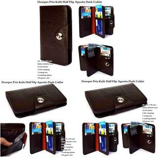 Dompet Kulit Pria Half Stand Augus