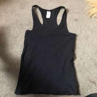 Black singlet size 10