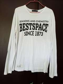 White Long Sleeves Tee