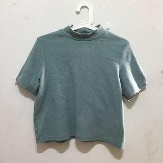【二手商品】 藍綠短袖上衣