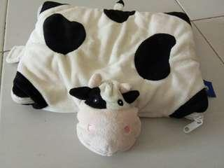 Cow pillow/blankets