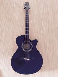 Z custom Black Acoustic Guitar