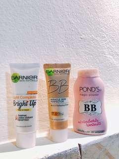 paket bb ponds + bb cream garnier + sunscreen garnier