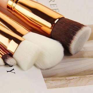 8Pcs Professional Makeup Brushes Set Foundation Powder Blush Eyeshadow Concealer Eyebrow Brush Rose Gold Beauty Makeup Brushes