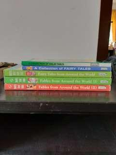 Assorted Collections of Fables and Fairy Tales for Children from Around the World