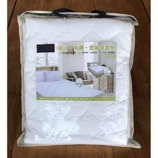 【Dc柚木小屋】防汙、防塵、透氣保潔墊(床包式)雙人6x6.2尺台灣製造(免運費)