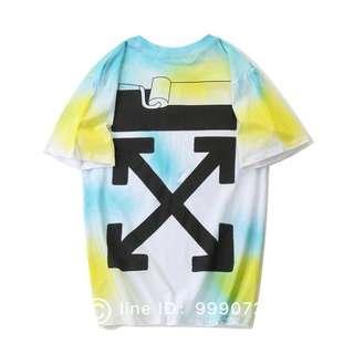 Off White 品質保障🔥現貨寬鬆T恤 紐約限定 渲染短袖 TEE OW男女款T恤 M-3XL