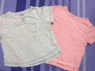 Gingersnaps Shirts (Blue & Pink)