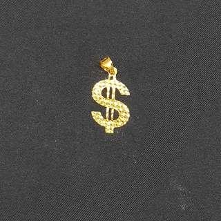 🚚 22K Gold Bling Bling $$$ Pendant