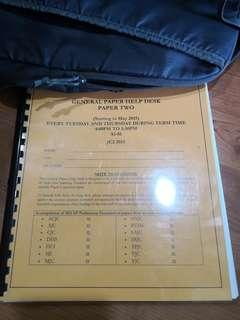 General Paper GP A Level Junior College JC English Paper 2 Prelim Exam Practice Paper
