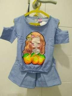 Baju set anak perempuan