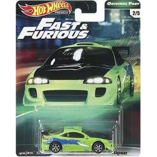 Hotwheels 2019 Fast & Furious Series Wave 2 '95 Mitsubishi Eclipse Rare Hot Wheels