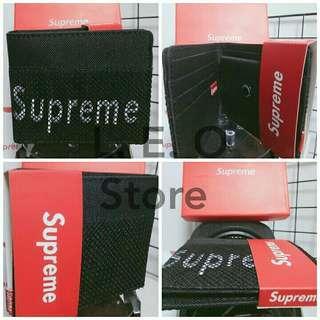 Supreme 網格個性-黑 短夾